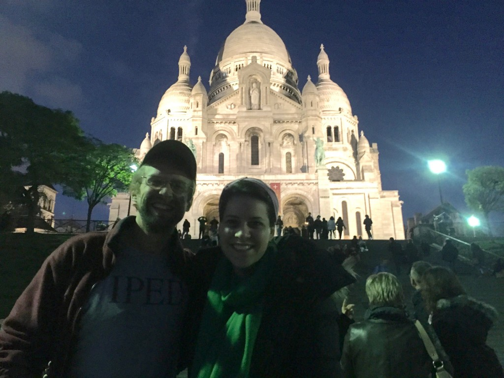 Shaw and Voges in front of Sacre Coeur.