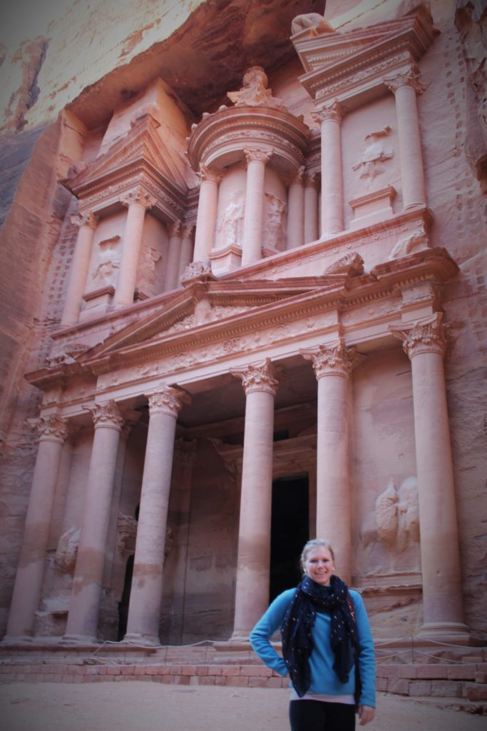 When I am not studying, I find opportunities to travel around Jordan. One of my first trips was to Petra.