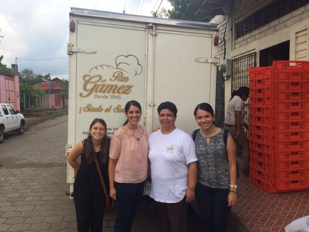 Emory research team and Leana Gámez, Bakery owner and TechnoServe Entrepreneur