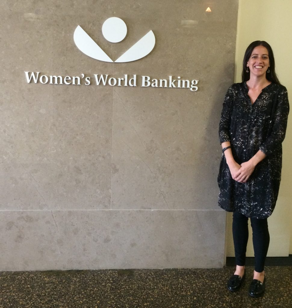 At the Women's World Bank Headquarters