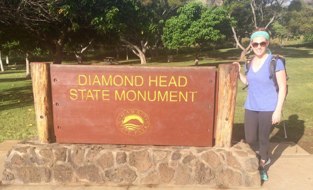 Katie enjoying the natural wonders of Honolulu at Diamond Head State Monument