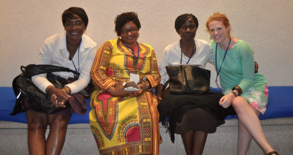 Equator Prize Winners Ivy Gordon, Josephine Agbo-Nettey, and Henrietta Kalinda with Katie