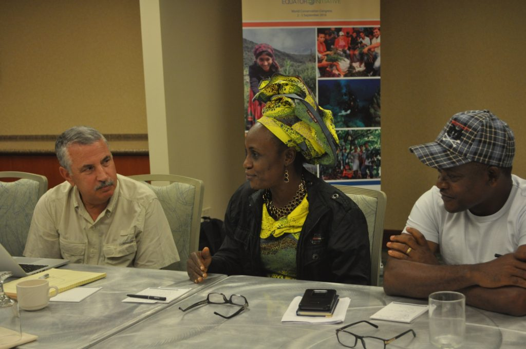 New York Times Columnist, Thomas Friedman, in conversation with Equator Prize Winners, Caroline Olori and  Martins Egot of the Ekuri Initiative, Nigeria